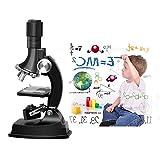 Kinder Mikroskop, Fozela 100x 600x 1200x Junior Mikroskop Kit mit Integrierte LED-elektrische Beleuchtung for Schüler und Kinder