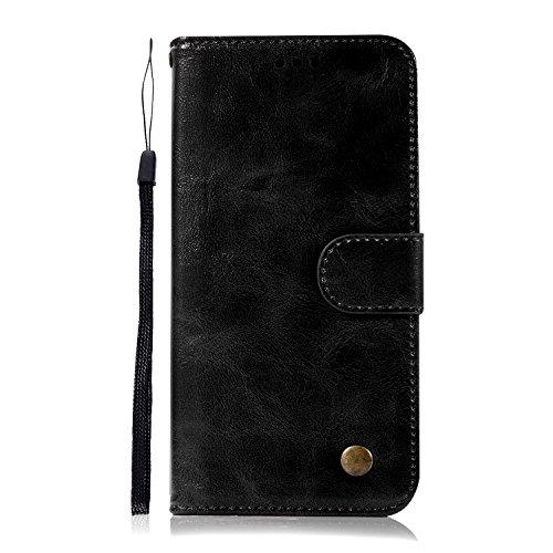 Thoankj One Plus 7 Pro Handy-Hülle, stoßfest, Slim Fit PU Leder Flip Wallet Phone Case mit Standfunktion Folio Magnetverschluss TPU Silikon Gel Bumper Schutzhülle für One Plus 7 Pro