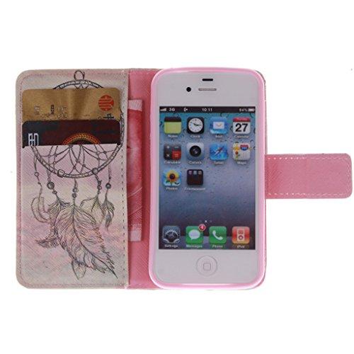 Nutbro [iPhone 4S] iPhone 4S Case,iPhone 4 Case,Leather Case,Wallet Case,Wallet Leather Case Cover,Flipcase Wallet Carry Leather Skin Cover Case ZZ-4S-9
