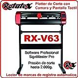 PLOTTER DE CORTE PROFESIONAL ROTUTEX V63 AUTOMATICO
