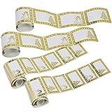 com-four® Pegatina de Regalo 120x para Navidad en Dos tamaños, autoadhesiva (120 Piezas - Pegatinas)