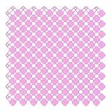 QiangDa Badmatte Kunststoff Hohler Entwurf Rutschfest Schnallen Spleißen Drainage, 25 X 25cm, 5 Farben (Farbe : Pink, größe : 8Pcs)