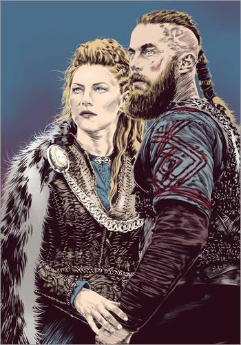 Póster 50 x 70 cm: The Vikings de Paola Morpheus - impresión artística póster artístico