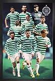 1art1 Fußball Poster und MDF-Rahmen - Celtic Glasgow,