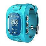 Kinder Armband Uhr Kids Smart Watch SOS-Ruf GPS/GPRS/WLAN WiFi Locator Tracker + Sprechanlage + Sprachnachricht - Blau