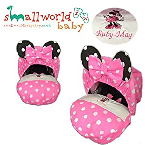 Personalised Minnie Mouse Baby Car Seat Cover
