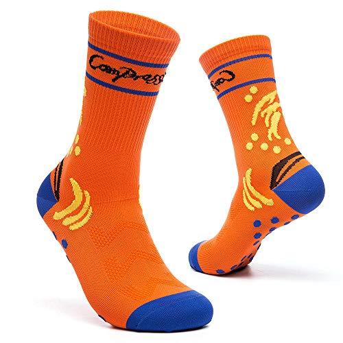 wazizhaozj Socken Damen & Herren Für Sie&Ihn Jungen & Mädchen Vielen Trendigen Farben Fit Für Reisen,Laufen,Ausdauer Steigern,Durchblutung Einfache Reitsocken Schöne Farbe @ Orange_20 Paare -