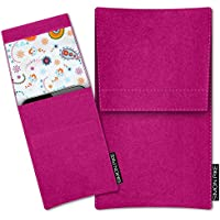 SIMON PIKE Nokia 5 Filztasche Case Hülle 'Sidney' in pink 10, passgenau maßgefertigte Filz Schutzhülle aus echtem 100% Natur Wollfilz, dünne Tasche im schlanken Slim Fit Design für das 5