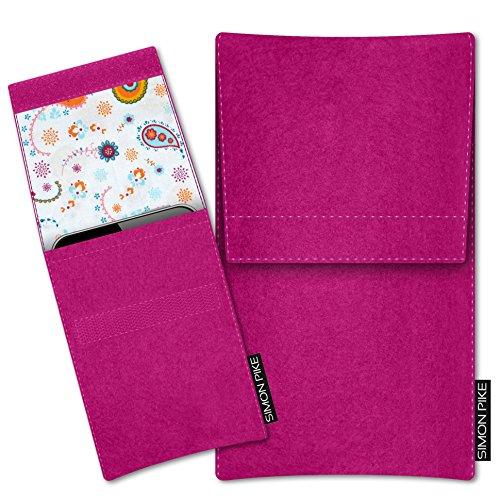 SIMON PIKE Filztasche Sidney, kompatibel mit YotaPhone 2, in 10 pink Filz - A867 Cover