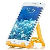 Saxonia Tablet/Smartphone Stand - Ständer Tisch Halterung Universal Handyhalterung und E-Book Reader Gelb