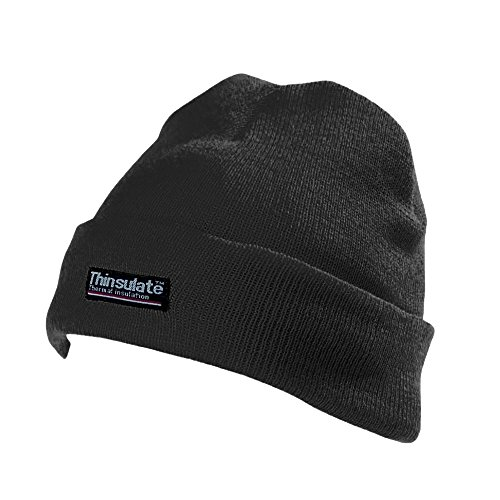 Price comparison product image Yoko Unisex Hi-Vis Thermal 3M Thinsulate Winter Hat (One Size) (Black)