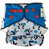 Allboutbaby Reusable All In One (Aio) Cloth Diaper For Heavy Absorbency With Organic And Stay Dry Insert - Little Panda