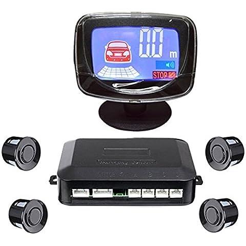 Pink Lizard 12v 4 cicalino di sensori lcd il parcheggio di equipaggiamento di sensore visualizzano il sistema di monitor di radar di supporto di rovescio di