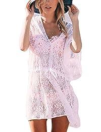 40969b58f379f NiSeng Womens Chiffon Solid Color Scarf Beach Sarong Pareo Bikini Wrap Cover  Up