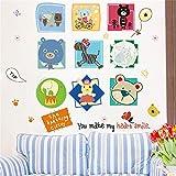 Aha Yo Kunst Wandsticker Für Kinder - Kreativ - Umweltschutz Wand Aufkleber Entfernen Kann 60 Cm X 90 Cm Der Kindergarten Im Wohnzimmer