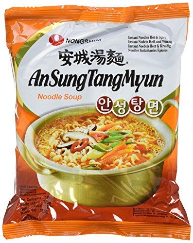 Nong Shim Instantnudeln Ansong Tangmyon - Koreanische Ramen Suppe - schnelle Zubereitung - 20er Vorteilspack à 125g