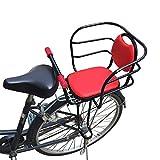 WXQY Bike Sedile Posteriore Set Accessori, Braccioli e Pedali Staccabili Resistenti all'Acqua Bicicletta Sicurezza per Bambini Sedili Posteriori 1-8 Anni