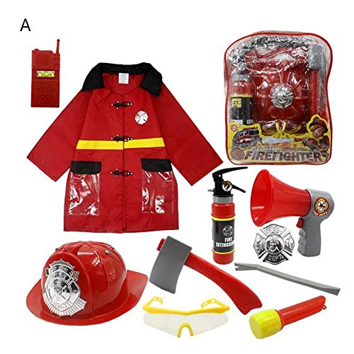 11 STÜCKE Kinder Feuerwehrmann Kostüm Feuerwehrmann Anzug Dress Up Set Junge Feuerwehrmann Outfit Pretend Rollenspiel Feuerwehrmann ()