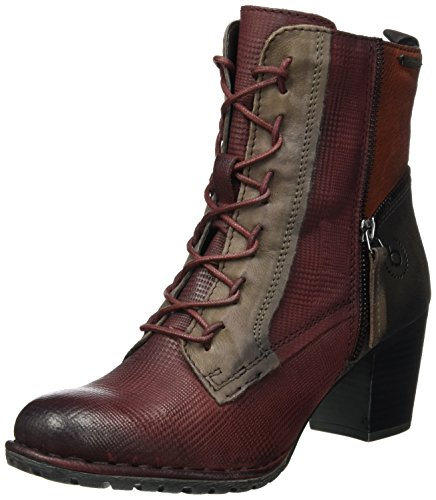 Bugatti Damen 411333343515 Stiefel, Rot (Dark Red/Multicolour), 37 EU