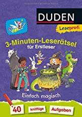 Leseprofi - 3-Minuten-Leserätsel für Erstleser: Einfach magisch: 40 knifflige Aufgaben (DUDEN Leseprofi Minuten Leserätsel)