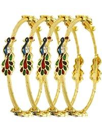 Valentine Gift : YouBella Jewellery Valentine Traditional Pearl & Gold Bracelet Bangle Set for Women/Girls