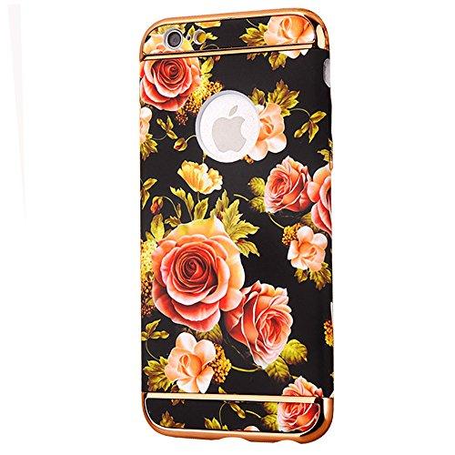 """Hüllen für iPhone 7, CLTPY iPhone 7 Luxus Mehrfarbiges Neue Motiv Harte Plastik Cover mit Removable Gold Plating Bumper, Schlank & Leicht [3-im-1] Antirutsch Premium-Schutz Fall für 4.7"""" Apple iPhone  Farbige Blume 13"""