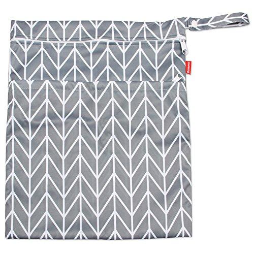 Flecha Gris Teamoy Bolsa de pa/ñales para Beb/é Bolsa Impermeable para Ropa Organizador Accesorios de Beb/é con dos compartimentos