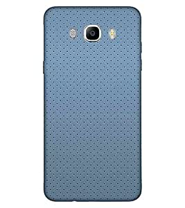 For Samsung Galaxy On8 seamless black dots over blue fabrick background ( seamless black dots over blue fabric background and texture ) Printed Designer Back Case Cover By FashionCops