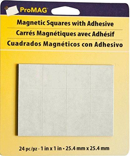 Magnum Magnetics quadratischen Magneten mit Klebstoff, mehrfarbig, 1 -