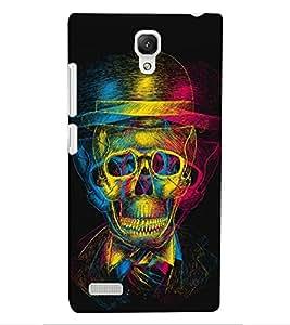 ColourCraft Funny Skull Design Back Case Cover for XIAOMI REDMI NOTE 4G