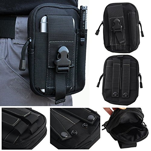 GenialES 1000D Nylon Molle Taktische Hüfttaschen Molle Tasche Gürteltasche Übergröße Taktisch Smartphone Halfter EDC Carry Zubehör Taillepäckchen Hülle für Smart Phones Multifunktionen