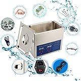 Limpiador por ultrasonidos aparato, limpiador Digital Póster por ultrasonido 2L/3L/6L ultratonique Cleaner (acero inoxidable Ave contador Digital para bijouex/reloj/gafas/correa/aparato bucal, 2L, 50