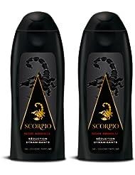 Scorpio - Gel Douche pour Homme - Noir Absolu - Flacon 250 ml - Lot de 2