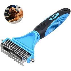 Petacc útil cepillo para mascotas multifuncional, práctico para el aseo de su mascota, herramienta de dos lados adecuado para perros y gatos.