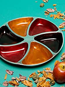 India Aluminium Dips and Nibbles Plate Autumn