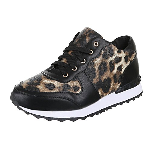 Ital-Design, Sneaker donna Multicolore (Leo Multi)
