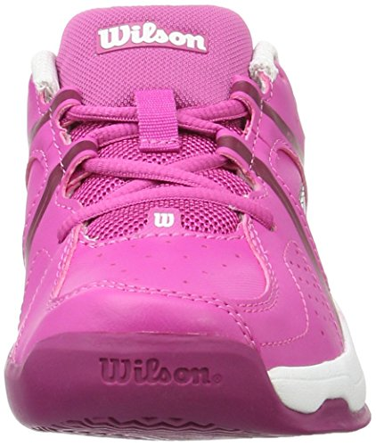 Wilson Envy Jr Scarpe da Tennis Unisex - bambini, Rosa (Rose Violet/White/Boysen Berry), 37 EU