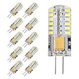 Gvoree G4ampoules LED, 2W faciles à 20W Ampoule halogène, AC/DC 12V, 360° Angle de faisceau, Blanc chaud 3000K, non compatible avec variateur d'intensité Ampoule LED, Lot de 10
