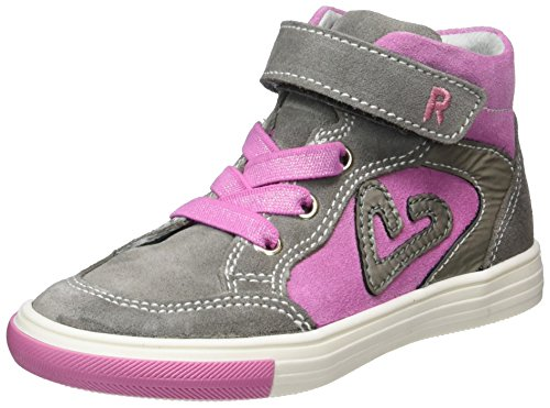 Richter Kinderschuhe Mädchen Fedora High-Top, Grau (Rock/Candy/Shadow), 31 EU