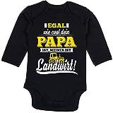 Shirtracer Sprüche Baby - Egal wie Cool Dein Papa meiner ist Landwirt - 6-12 Monate - Schwarz - BZ30 - Baby Body Langarm