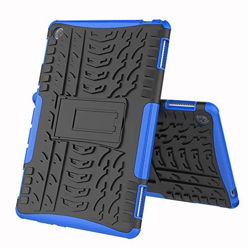 COVO® Huawei MediaPad M5 PRO (10.8 Inch)-Hülle Tough Hybrid Armor Case,Diese Handyhülle Anti-Wrestling Travel Essential Faltbare Halterung für Huawei MediaPad M5 PRO (10.8 Inch)(Blau)