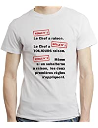 Tee shirt humour - Les règles du chef