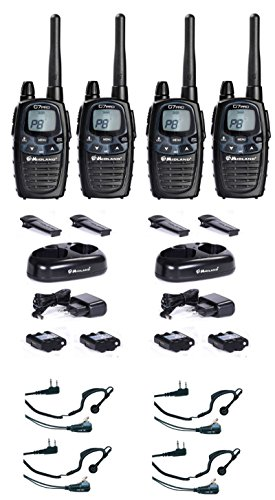 Set di 4 dispositivi radio Midland valigetta G7 Pro Plus con Head Set di radio numerva radio l'apparecchio et