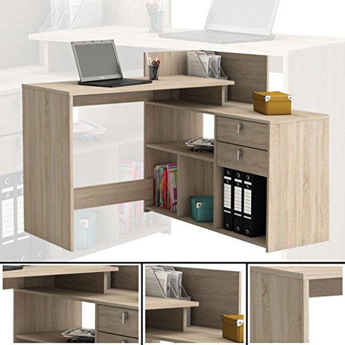 habeig Eck-Schreibtisch #203 Sonoma Eiche Schreibtisch Computertisch Eckschreibtisch PC Kind
