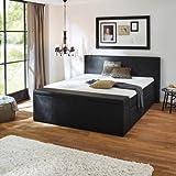 Boxspringbett Chicago Bett Doppelbett ca. 180 x 200 cm BX1160 Kunstlederbezug schwarz