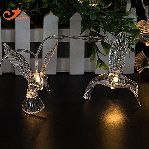 Generic Warm White, 0-5W : Alcedo 10 LED String Lights kingfisher Fairy Festival lighting bird Spring Decoration Holiday Light Battery Room decorative 65'