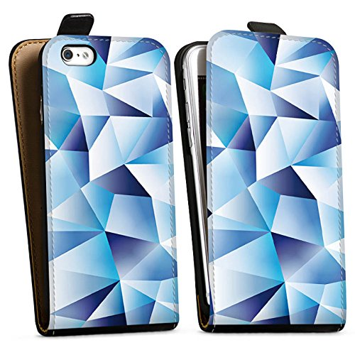Apple iPhone X Silikon Hülle Case Schutzhülle Kristall Muster Struktur Downflip Tasche schwarz