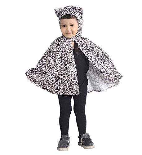 Leoparden-Kostüm als Umhang, An81 Gr. 74-98, für Klein-Kinder, Baby Babies, Leoparden-Kostüme Leopard Kinder-Kostüme, Fasching Karneval Fasnacht, Faschingskostüme, Geburtstags-Geschenk Kind