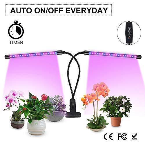 LED Lamparas para Plantas de Doble Cabeza con 360° Giratorio...