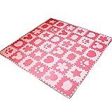 LFY Puzzle-Spiel- und Bodenmatte für Kleinkinder, ungiftig (16 Stück, 24 Stück, 30 Stück oder 36 Stück) (Farbe : Rosa, größe : 36 Piece)